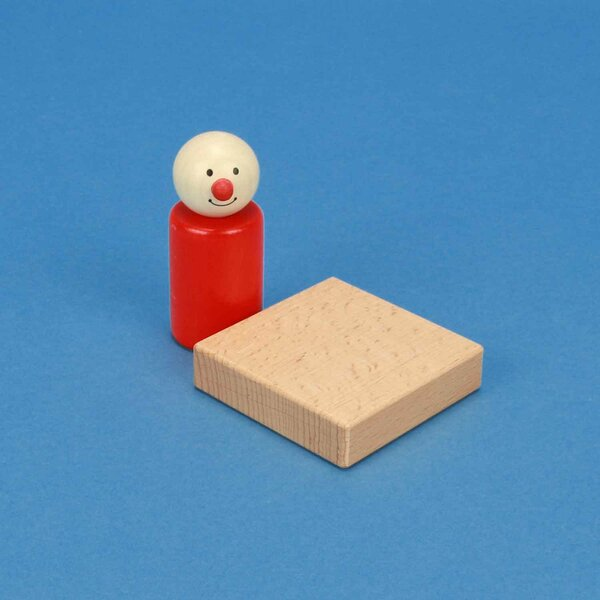 wooden building blocks 6 x 6 x 1,5 cm