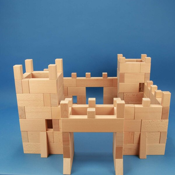 castle made of 170 wooden building blocks