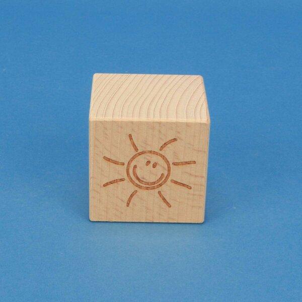 SMILE wooden cubes 4,5 cm