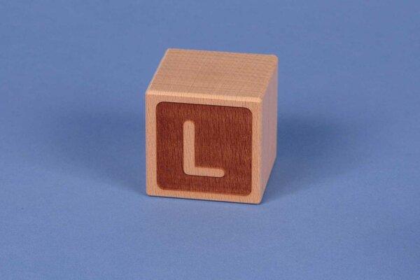 Letter cubes L negative