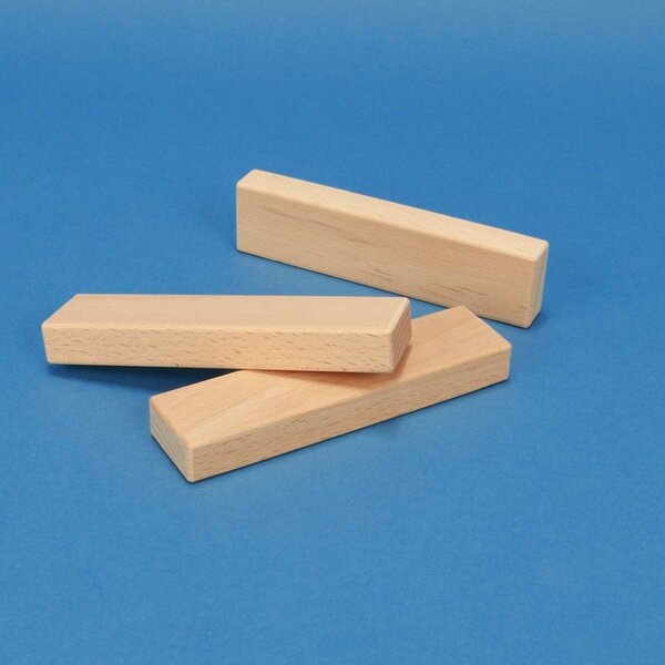 wooden building blocks 12 x 3 x 1,5 cm
