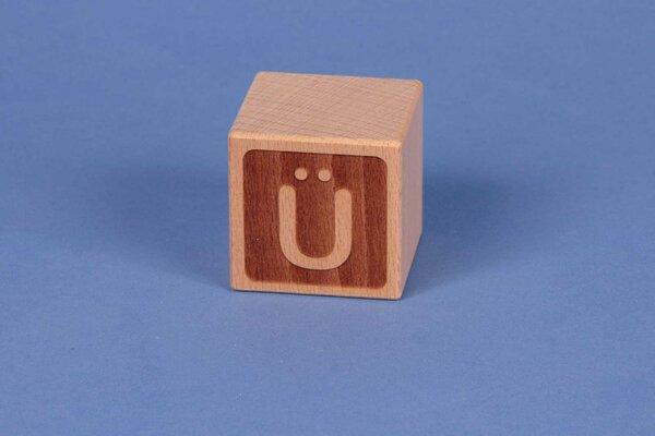 Letter cubes Ü negative
