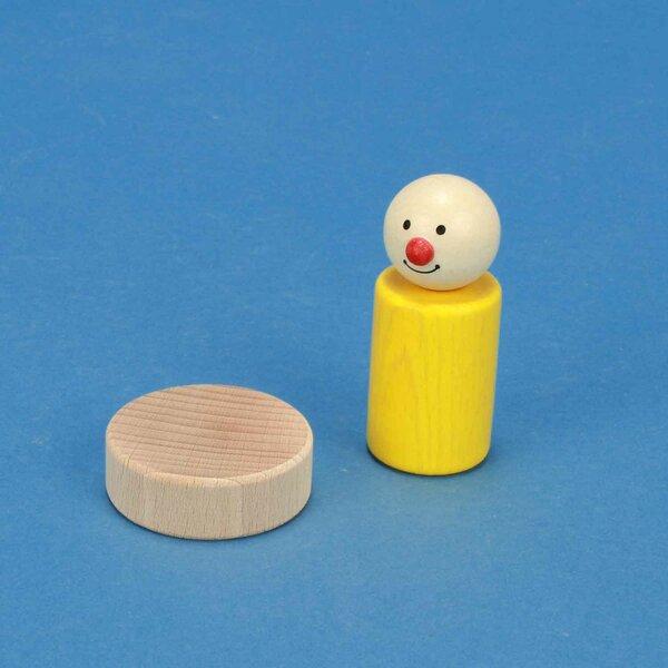 wooden block round Ø 4,5 x 1,5 cm