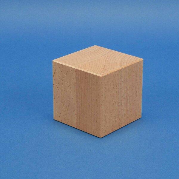 Deco wooden cubes 9 cm