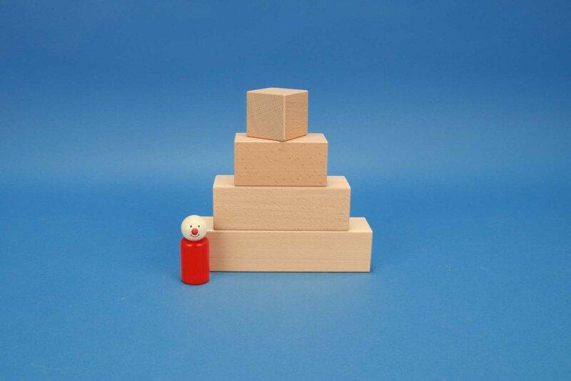 wooden blocks cuboid 4,5 x 4,5 cm