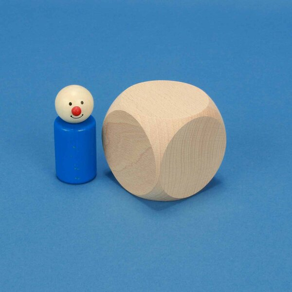 wooden dices blank 6 cm