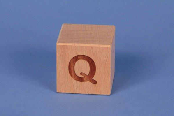 Letter cubes Q positive