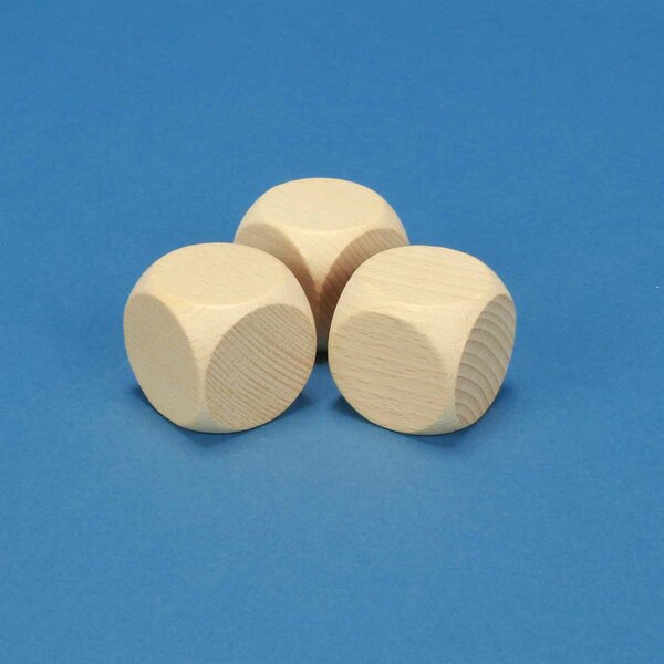 wooden dices blank 4 cm