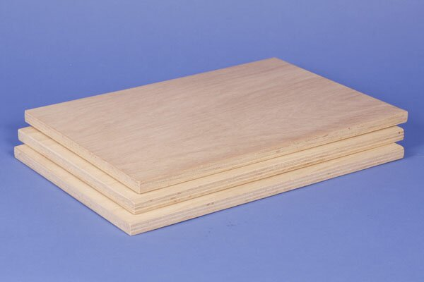 3 large beech plywood panels