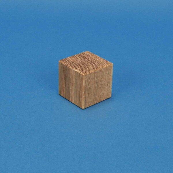 wooden cubes oak 3 cm