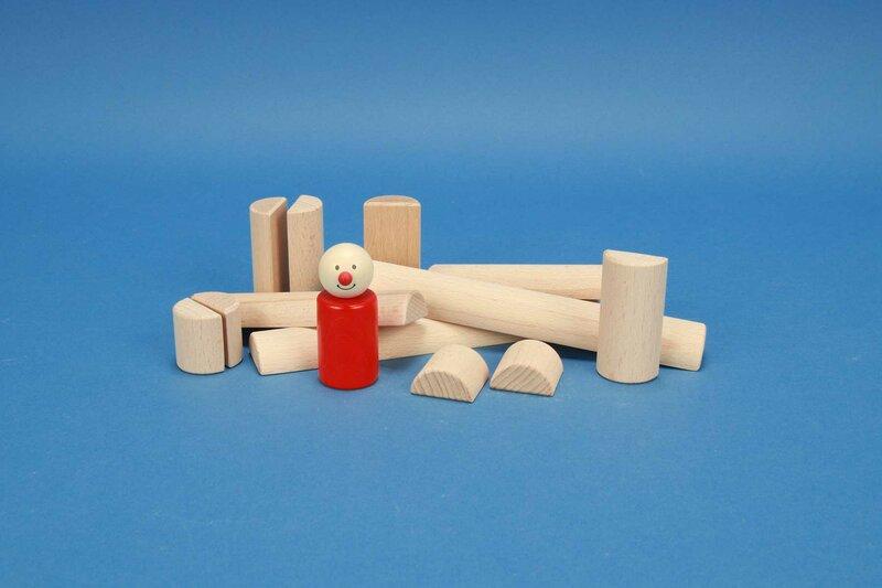 wooden half-pillar/cylinder Ø 3 cm