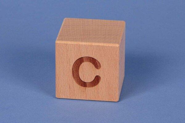Letter cubes C positive