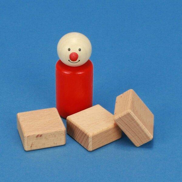 wooden building blocks 3 x 3 x 1,5 cm
