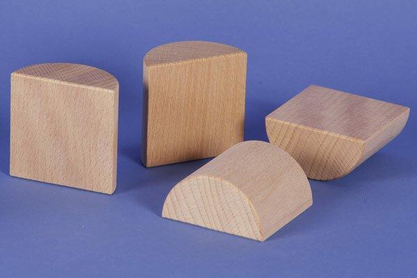 wooden half pillar Ø 6 x 6 cm