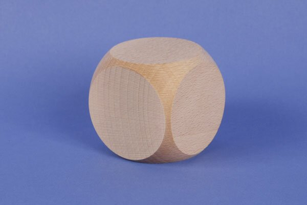 large wooden dices 6 cm