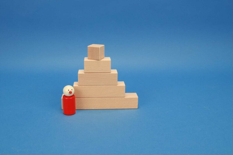 wooden blocks square 3 x 3 cm