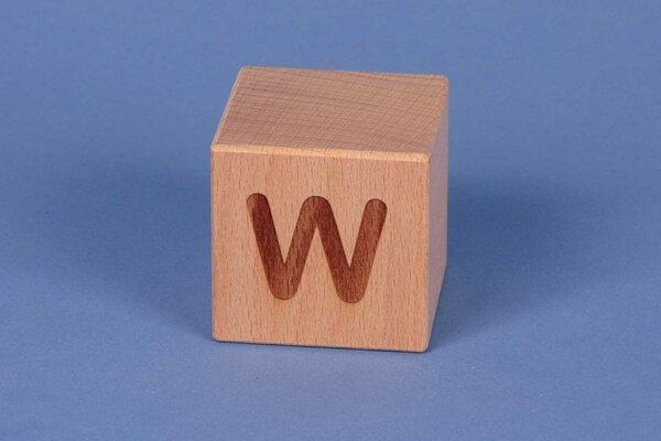 Letter cubes W positive