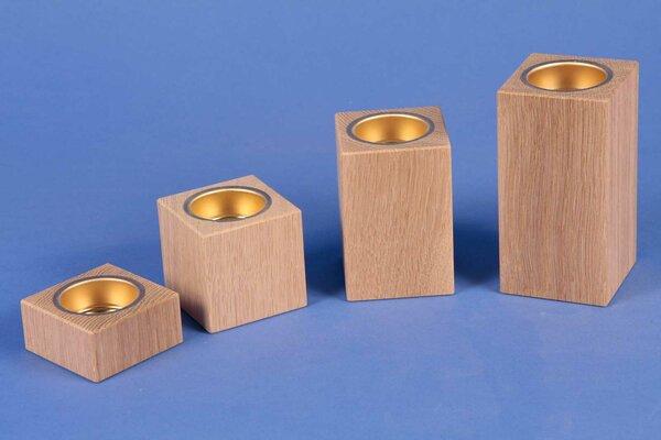 wooden candle holder advent oak