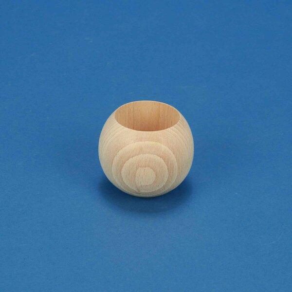 wooden balls beech Ø 60mm half drilled 40mm