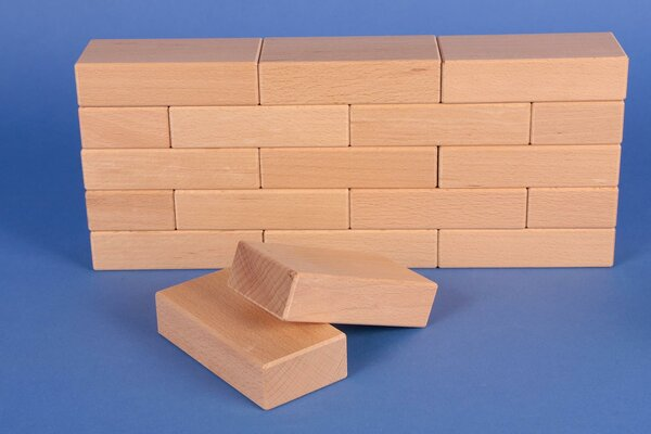 wooden blocks 10 x 5 x 2,5 cm