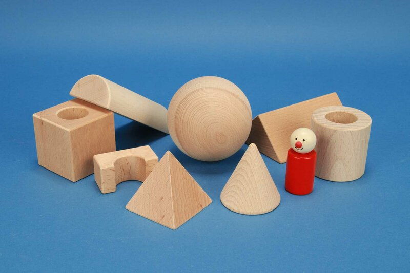 Wooden blocks for school