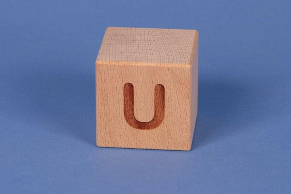 Letter cubes U positive