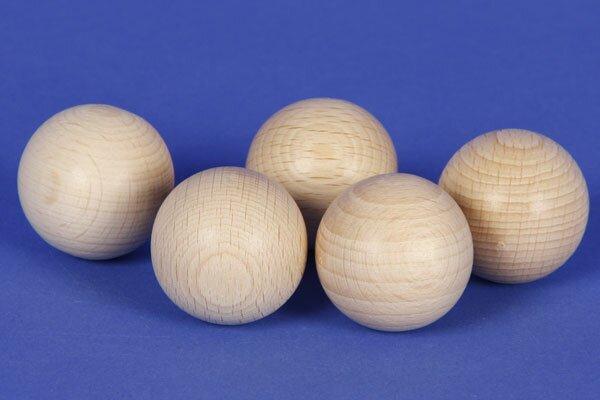 wooden balls Ø 30 mm half-drilled 6mm