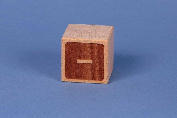 Letter cubes minus negative