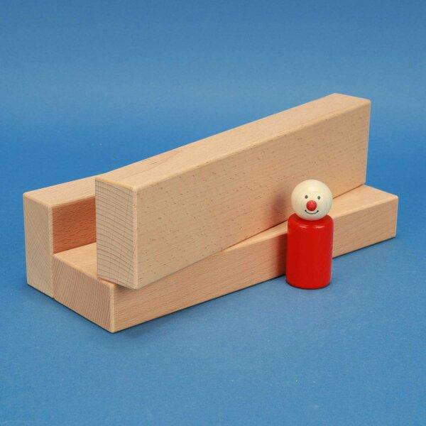 fröbel wooden building blocks 24 x 6 x 3 cm