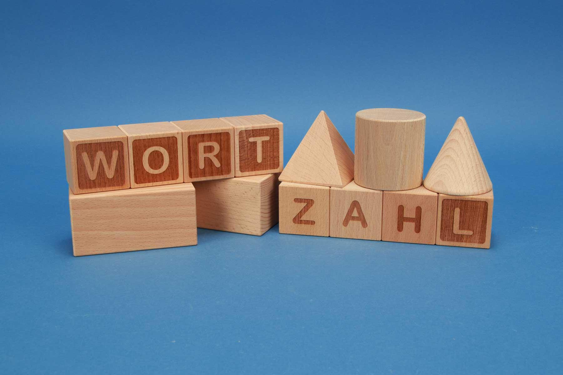 Letter cubes A-Z beechwood 4,5 cm