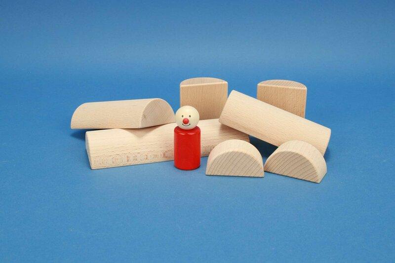 wooden half-pillar/cylinder Ø 6 cm