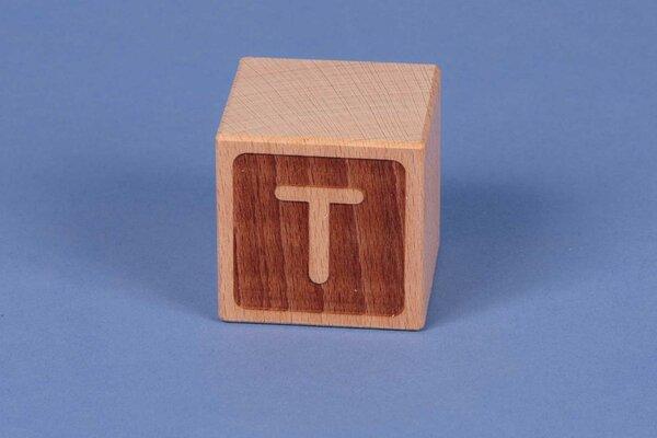 Letter cubes T negative