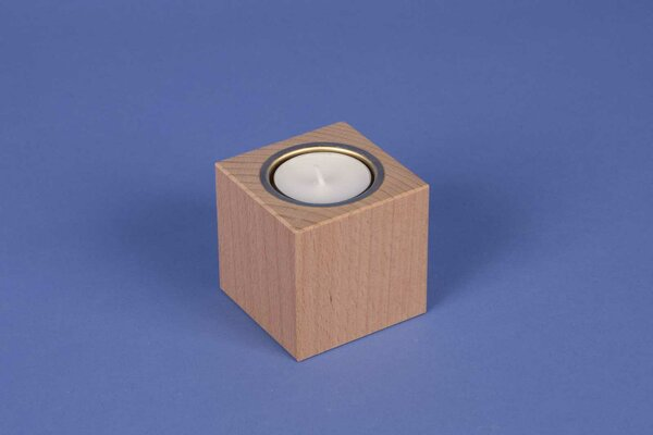 wooden candle holder 6 cm