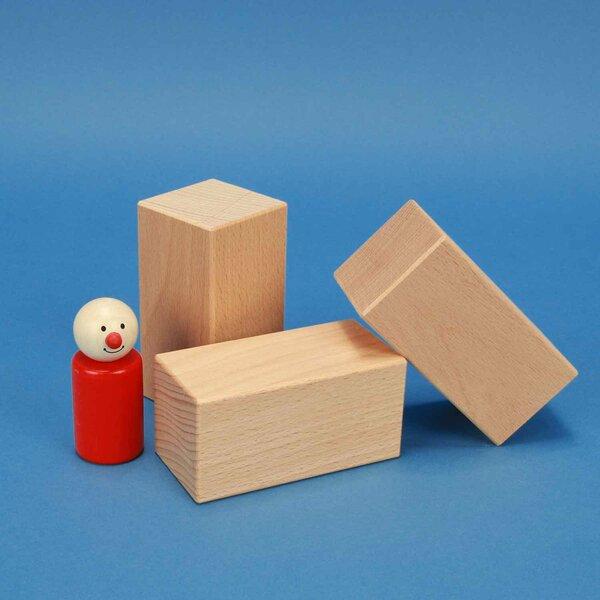wooden blocks 9 x 4,5 x 4,5 cm beech
