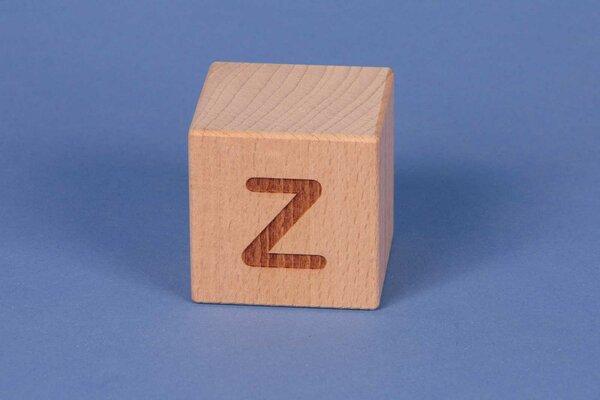 Letter cubes Z positive