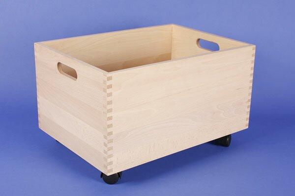 Rolling Beechwood box large