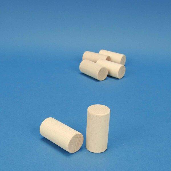 beechwood cylinder Ø 3 x 6 cm