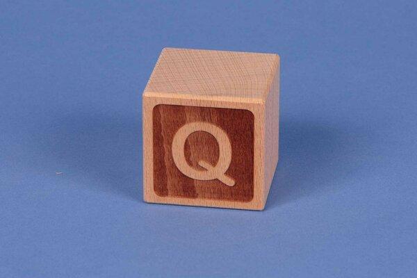 Letter cubes Q negative