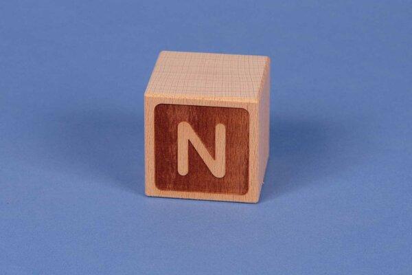 Letter cubes N negative