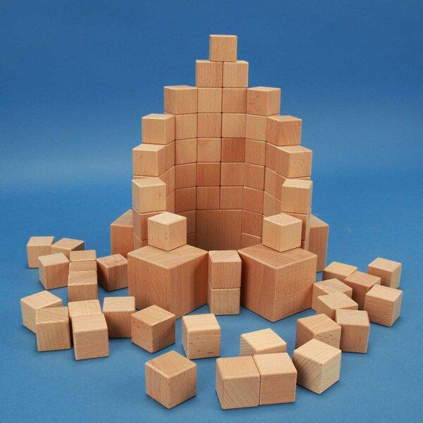 85 Wooden Cubes-Set