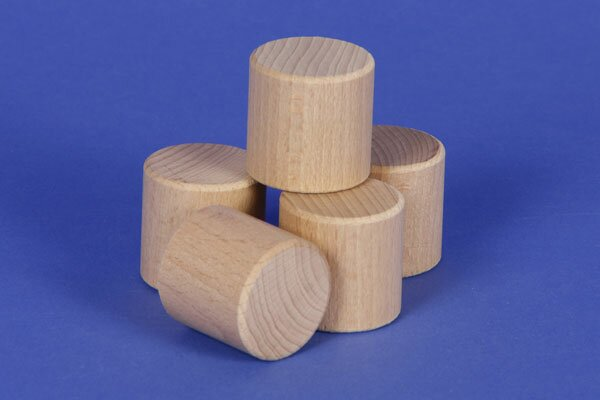 cylinder of beechwood Ø 1 inch x 1 inch