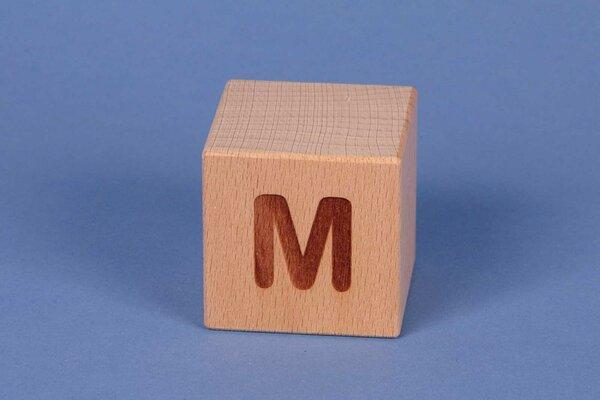 Letter cubes M positive
