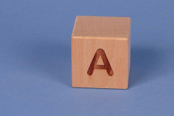 Letter cubes A positive