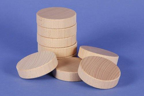 wooden block round Ø 6 x 1,5 cm