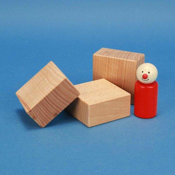fröbel wooden building blocks 6 x 6 x 3 cm