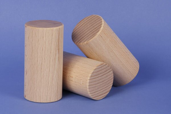 cylinder of beechwood Ø 2 inches x 3 inches