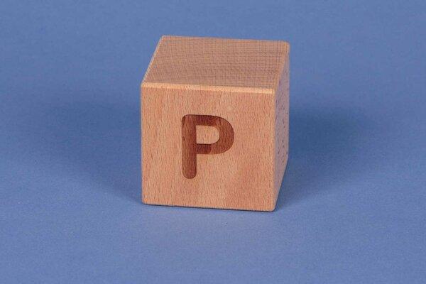 Letter cubes P positive