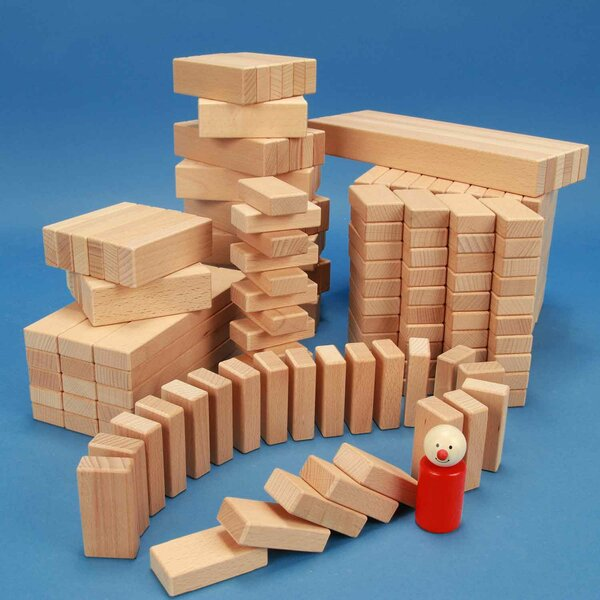 Set of 300 wooden blocks from the 3 x 1,5 cm series