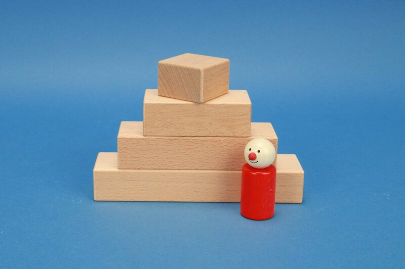 wooden blocks 4,5 x 3 cm