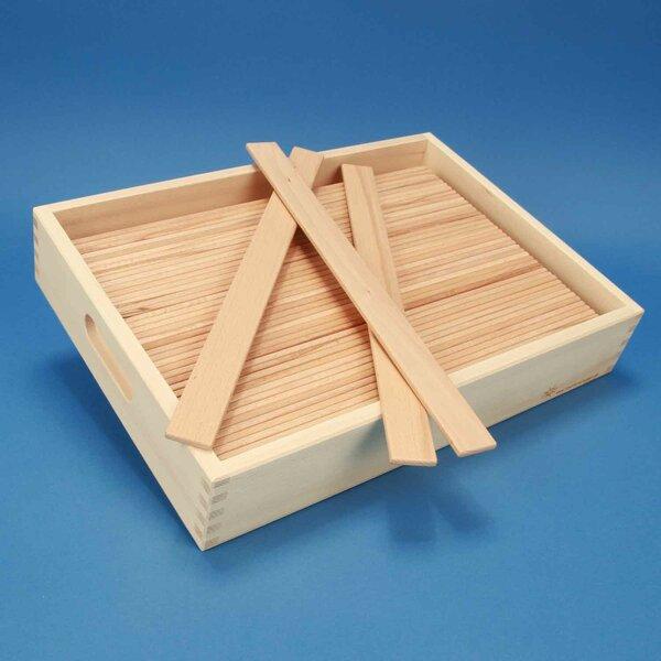 Double- Leonardo- bridge with wooden blocks